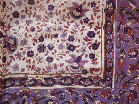 Seidentuch Viola lila 2