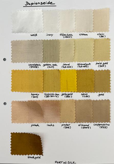 Dupion Seide Uni, Meterware in 112 Farben 5