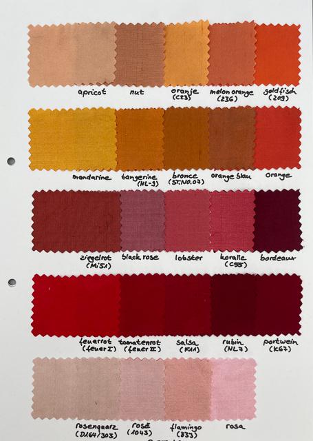 Dupion Seide Uni, Meterware in 112 Farben 1