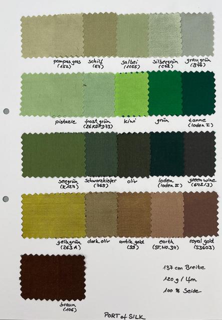 Dupion Seide Uni, Meterware in 112 Farben 2
